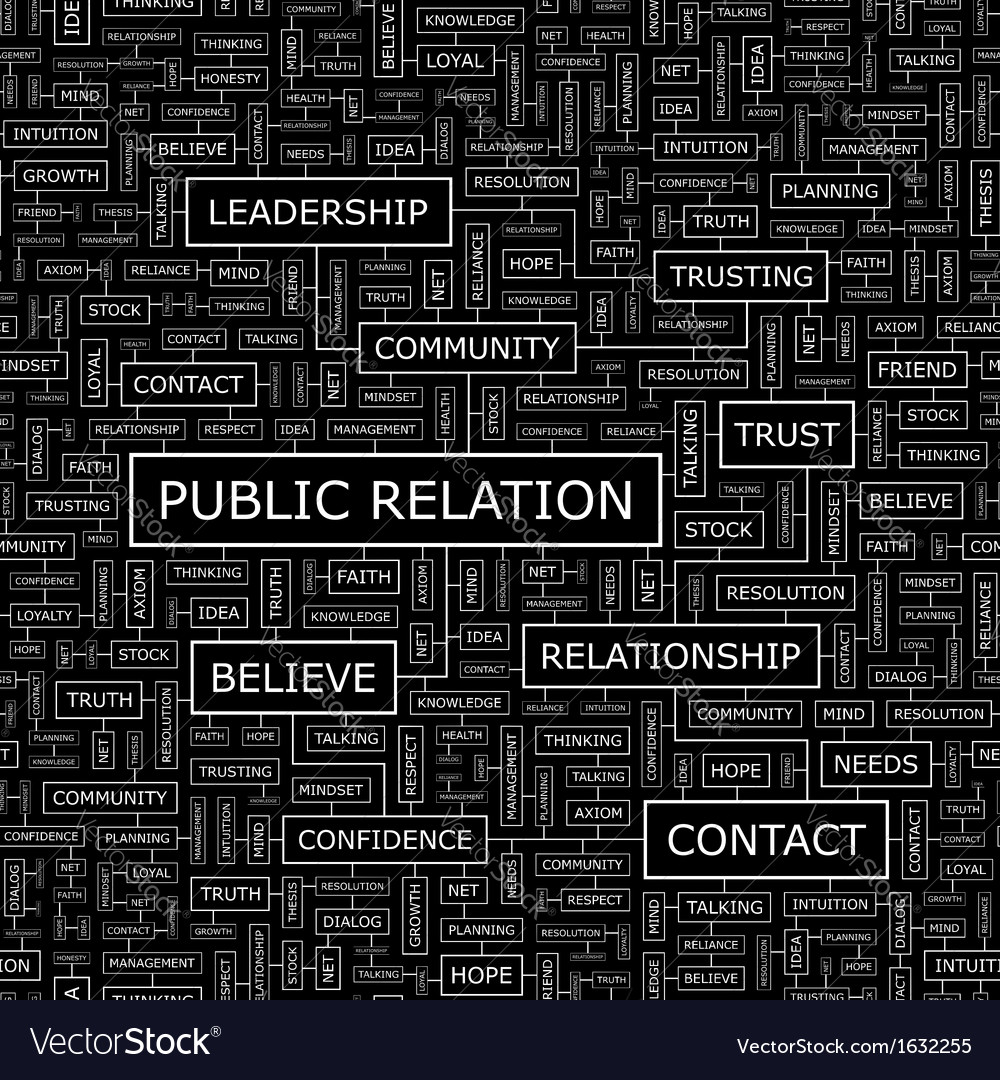 Public relation vector | Price: 1 Credit (USD $1)