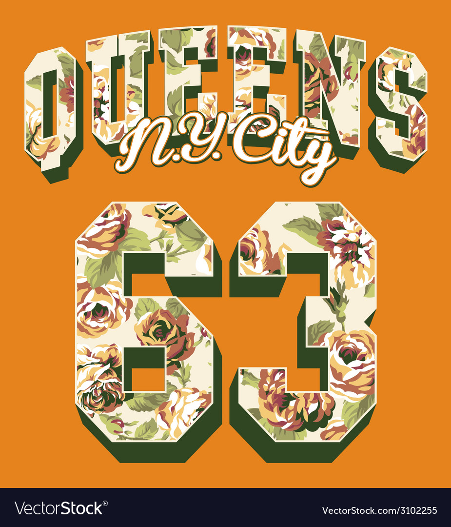 Queens new york city vector | Price: 1 Credit (USD $1)