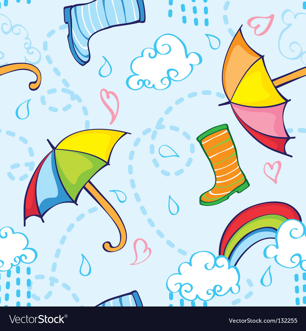 Rainy pattern vector | Price: 1 Credit (USD $1)