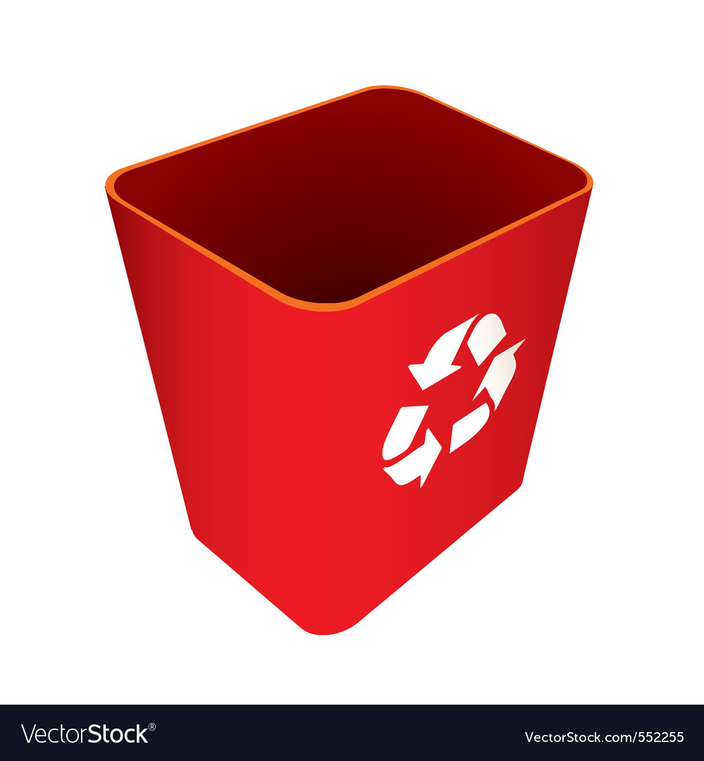 Red recycle trash can vector | Price: 1 Credit (USD $1)