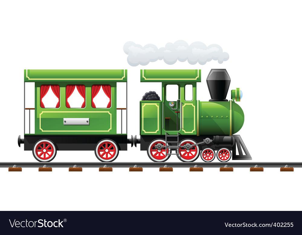 Retro locomotive vector | Price: 3 Credit (USD $3)