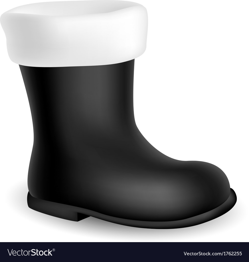 Santa black boot vector | Price: 1 Credit (USD $1)