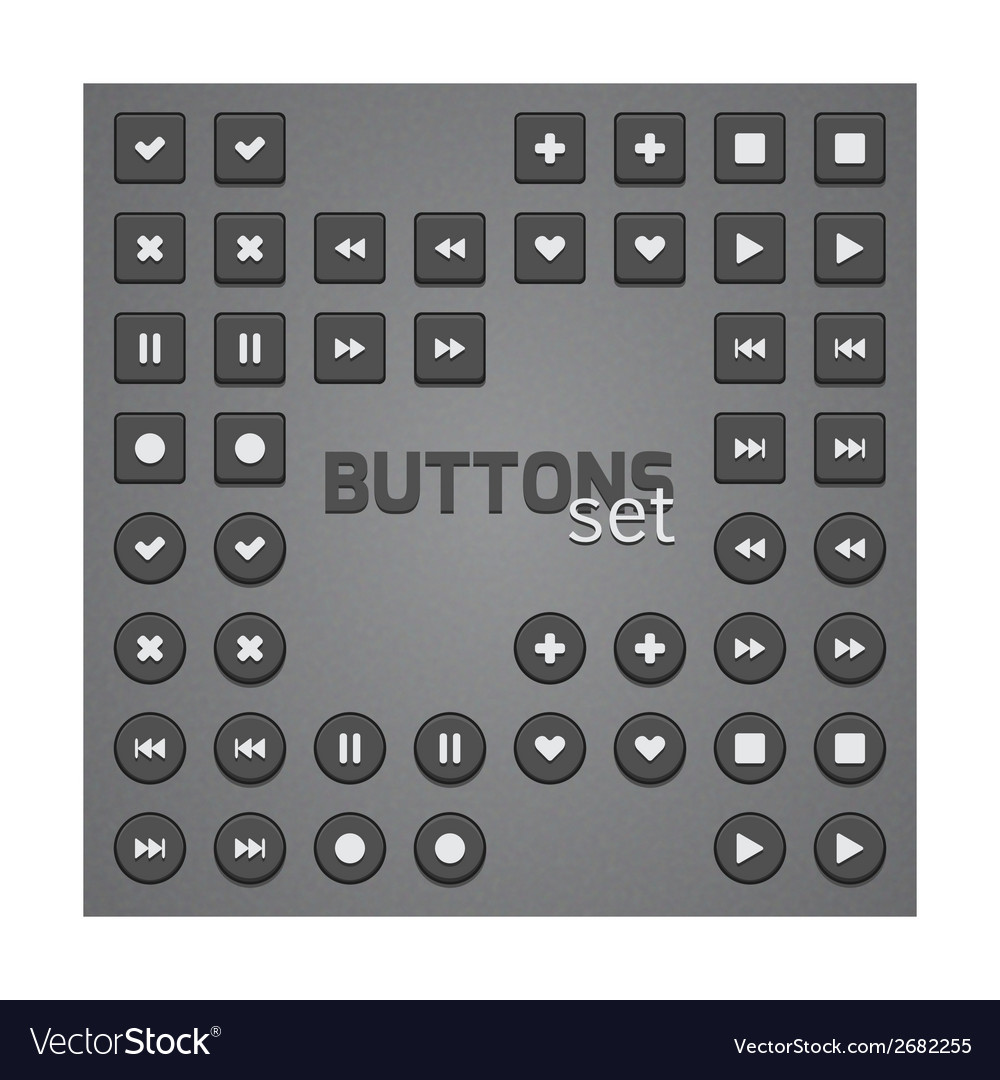 Set of simple buttons vector | Price: 1 Credit (USD $1)