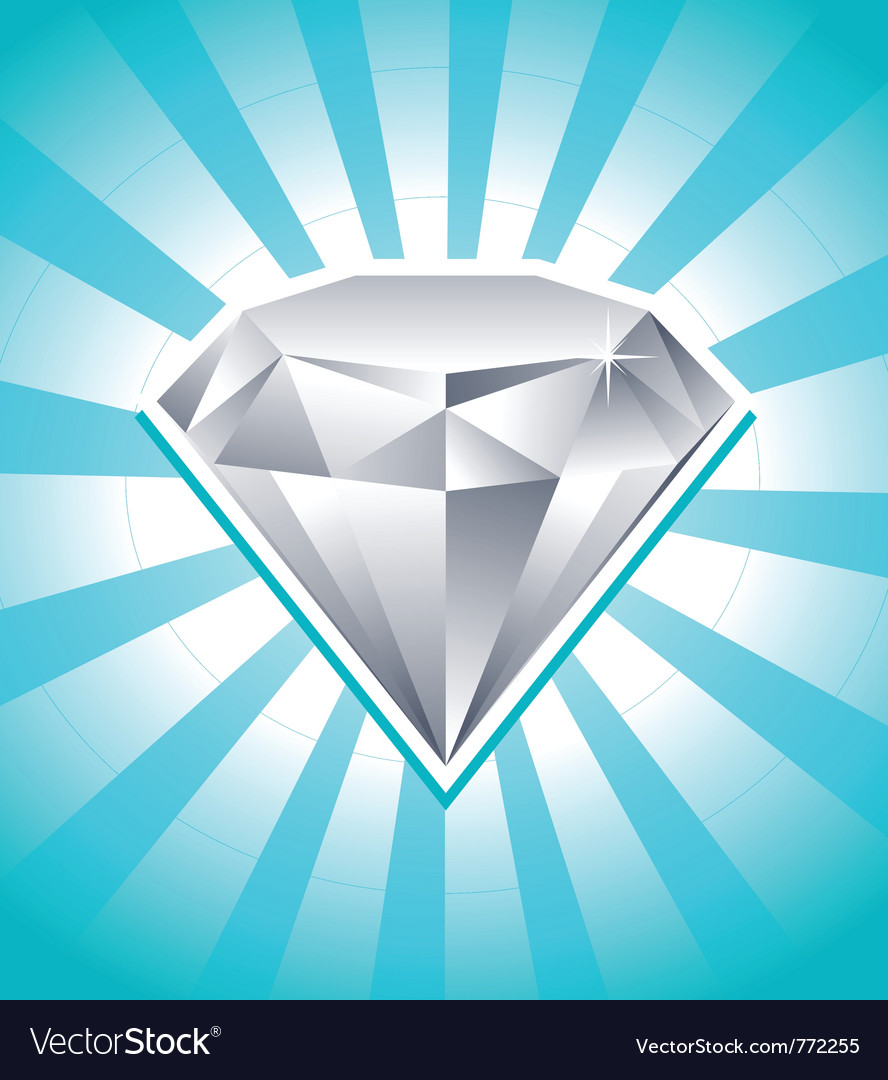 Shiny diamond vector | Price: 1 Credit (USD $1)
