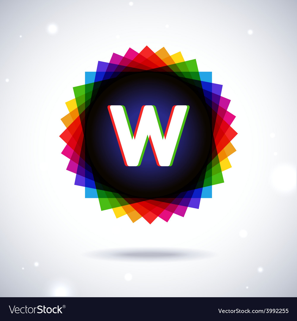 Spectrum logo icon letter w vector | Price: 1 Credit (USD $1)