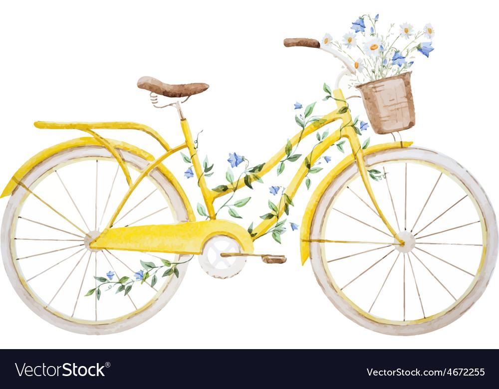 Watercolor bike bicycle vector | Price: 1 Credit (USD $1)