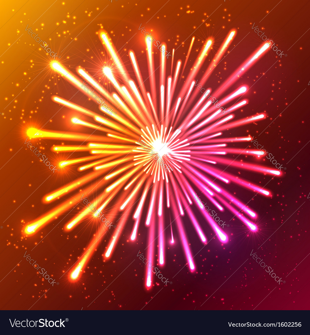 Bright neon firework vector | Price: 1 Credit (USD $1)