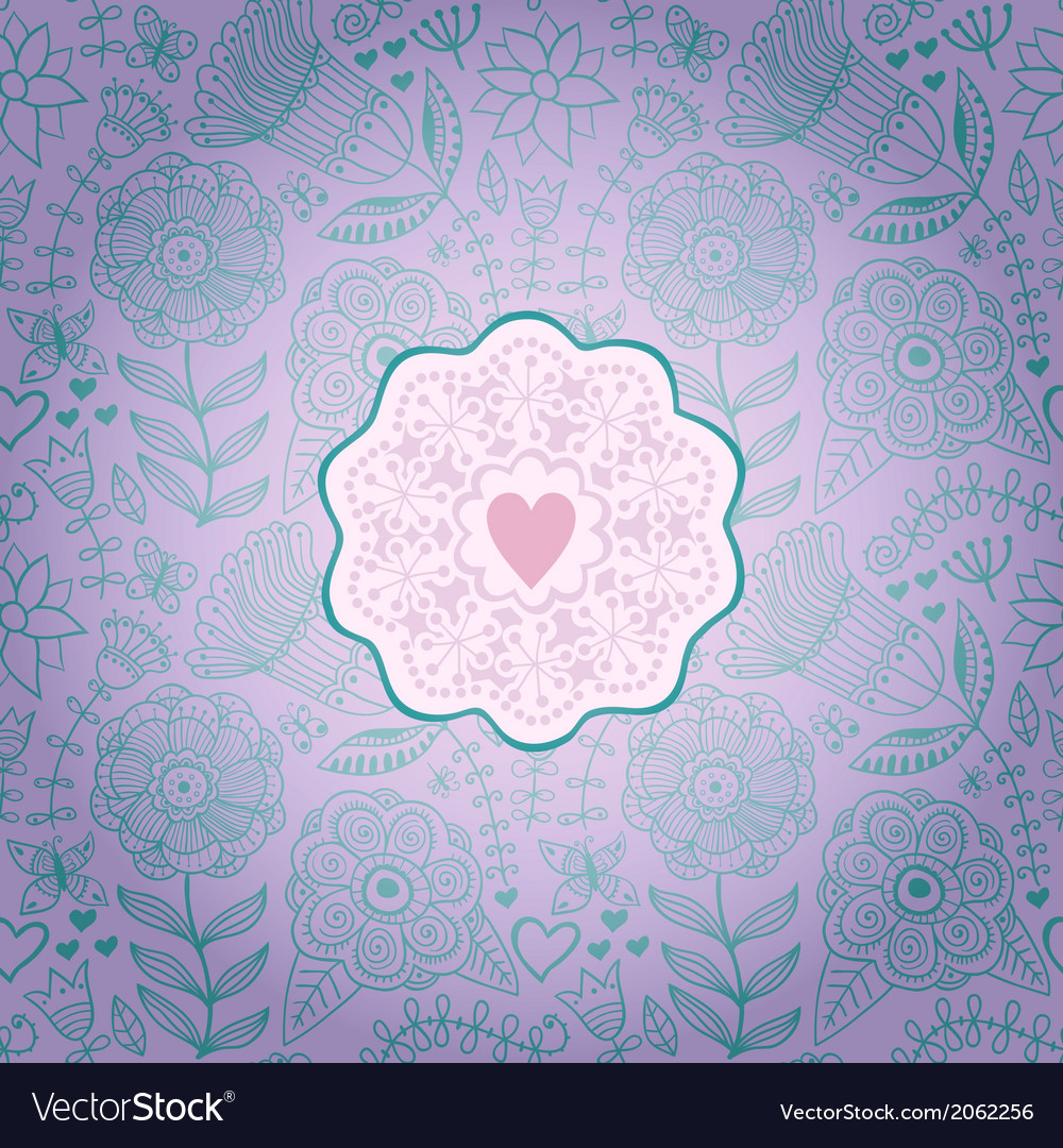 Floral background with vintage labelgorgeous vector | Price: 1 Credit (USD $1)
