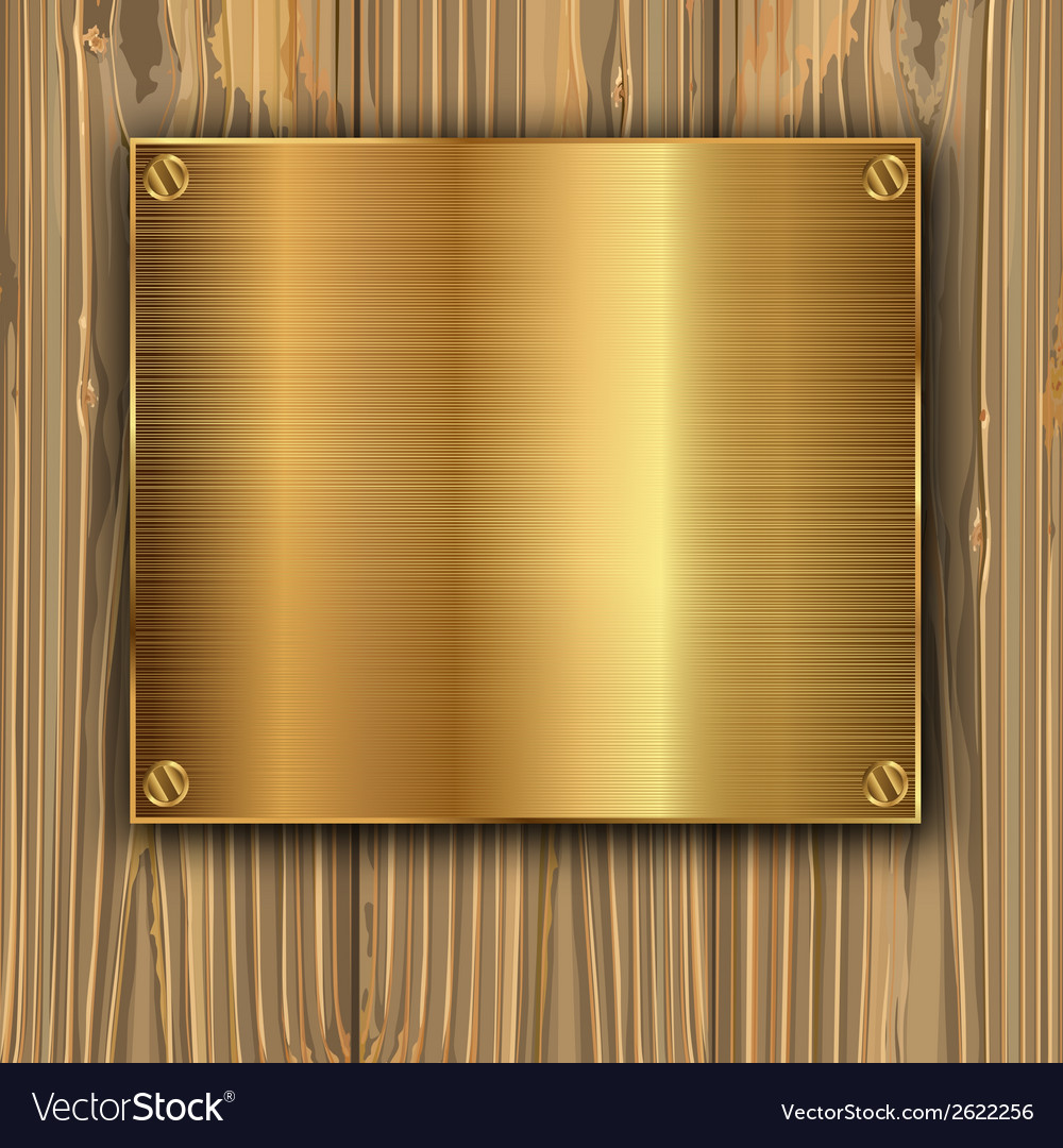 Gold on a planks vector | Price: 1 Credit (USD $1)