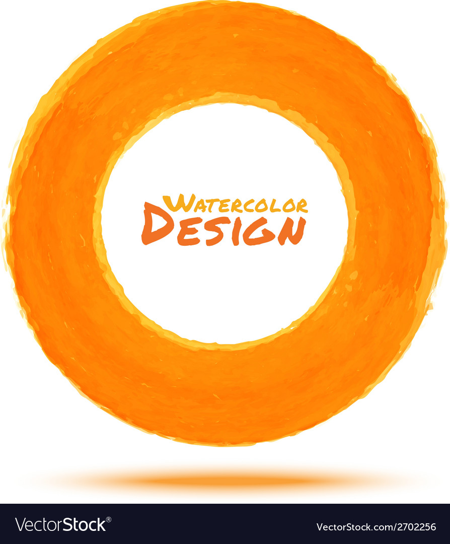 Hand drawn watercolor orange circle design element vector | Price: 1 Credit (USD $1)