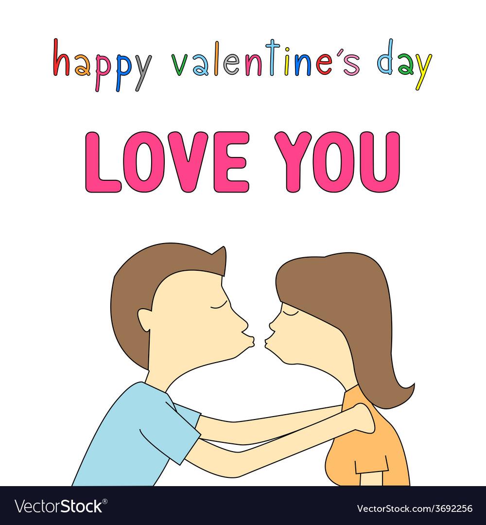 Happy valentine s day card14 vector | Price: 1 Credit (USD $1)