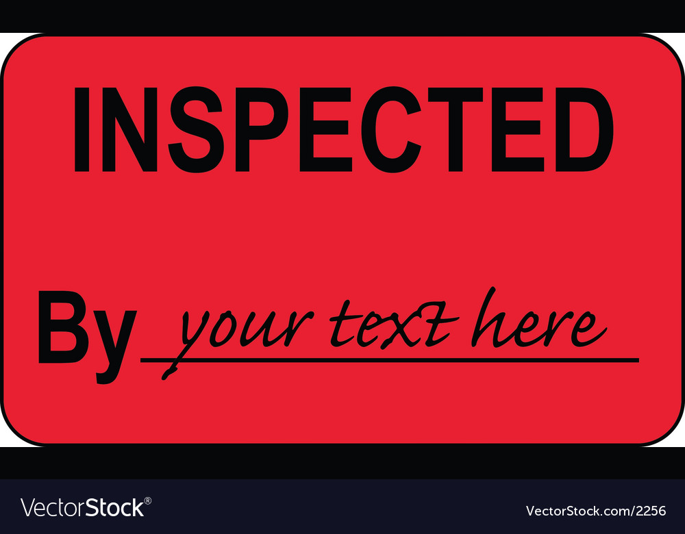 Inspected by label vector | Price: 1 Credit (USD $1)