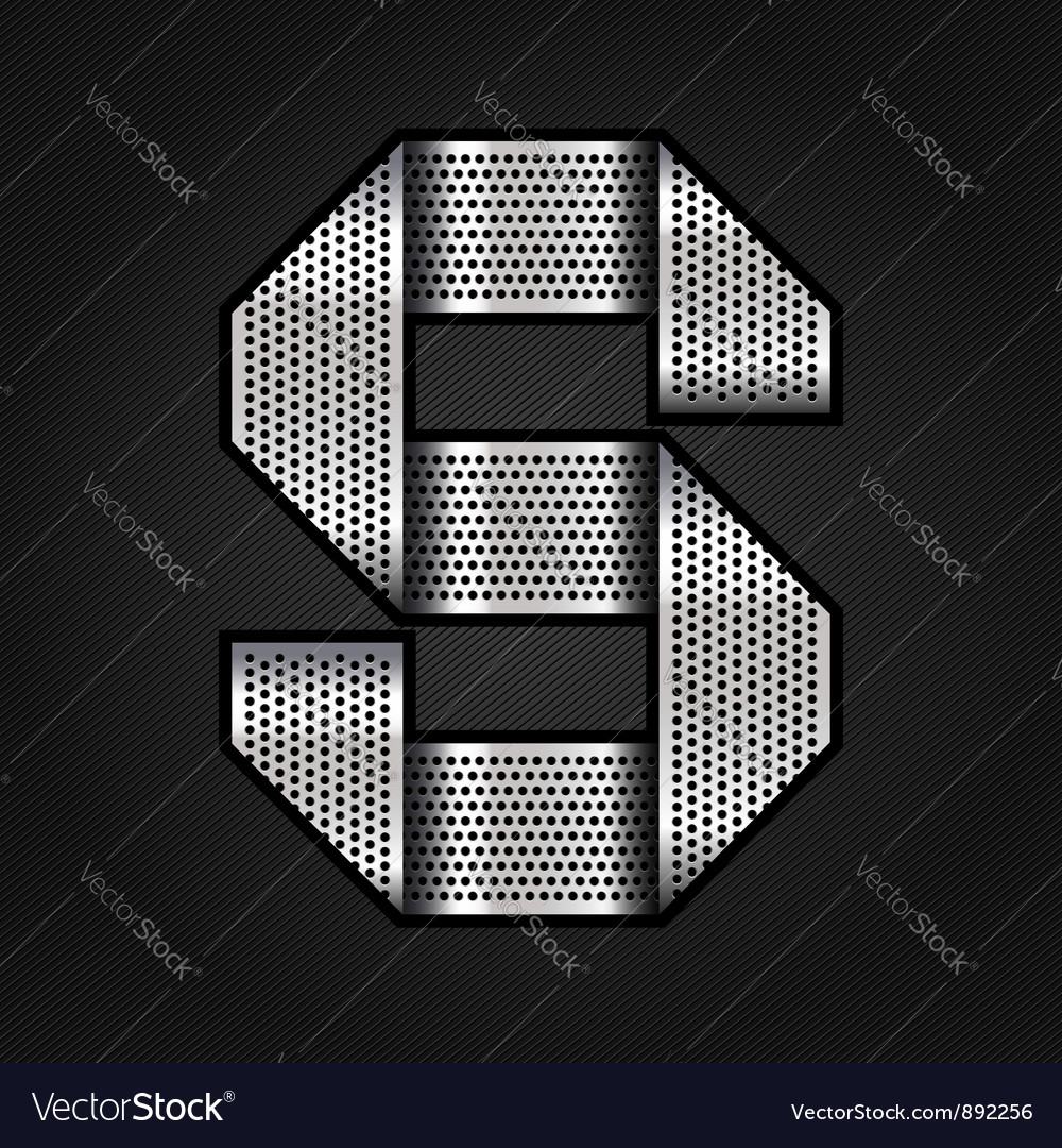 Letter metal chrome ribbon - s vector | Price: 1 Credit (USD $1)