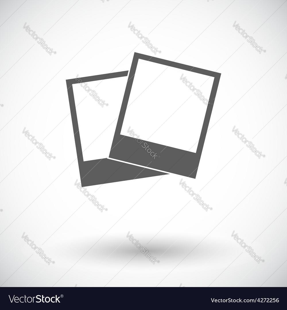 Photo single icon vector | Price: 1 Credit (USD $1)
