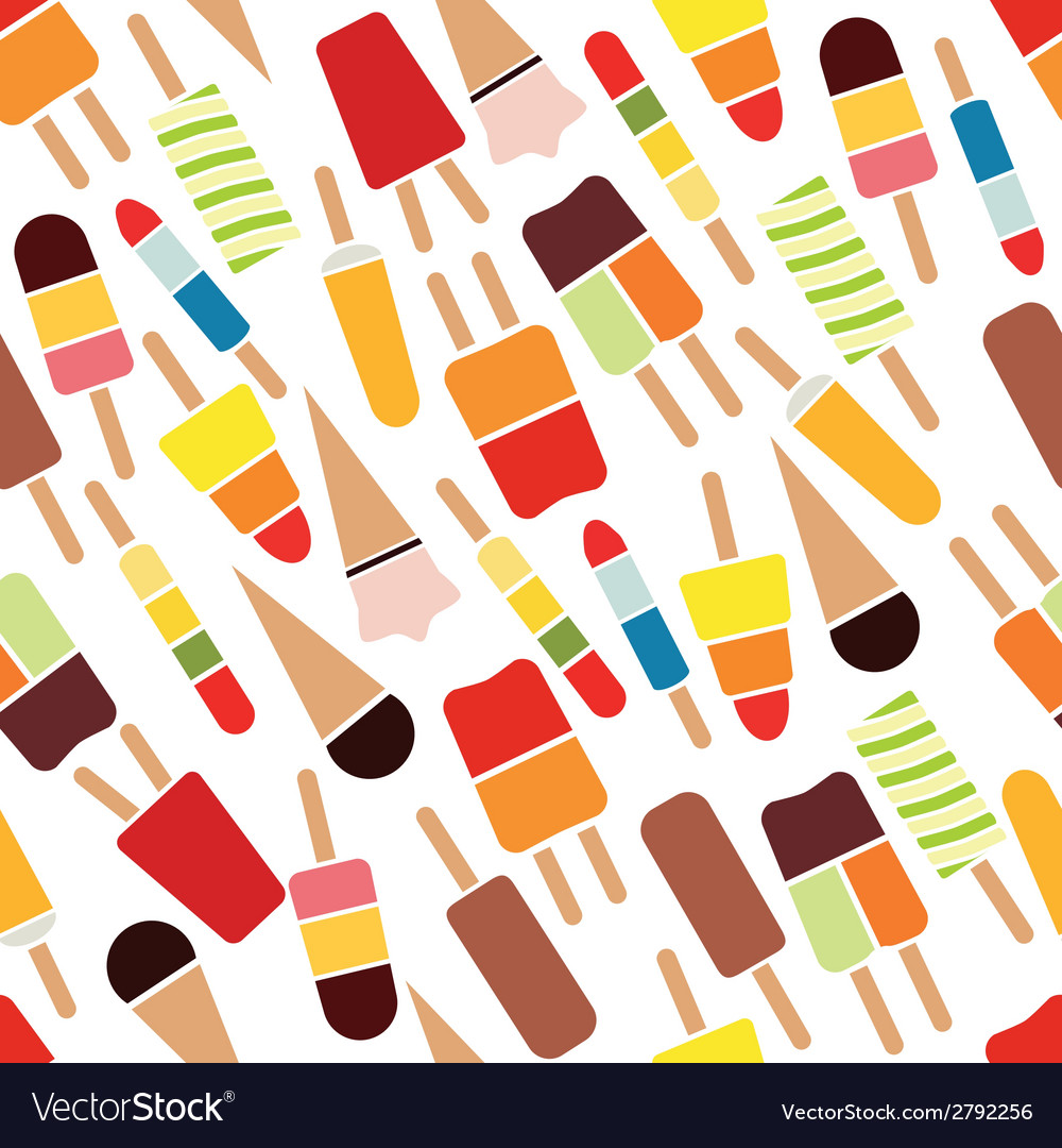 Popsicle seamless pattern vector | Price: 1 Credit (USD $1)