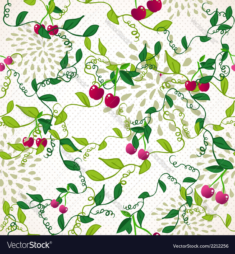 Seamless pattern with cherry vector | Price: 1 Credit (USD $1)