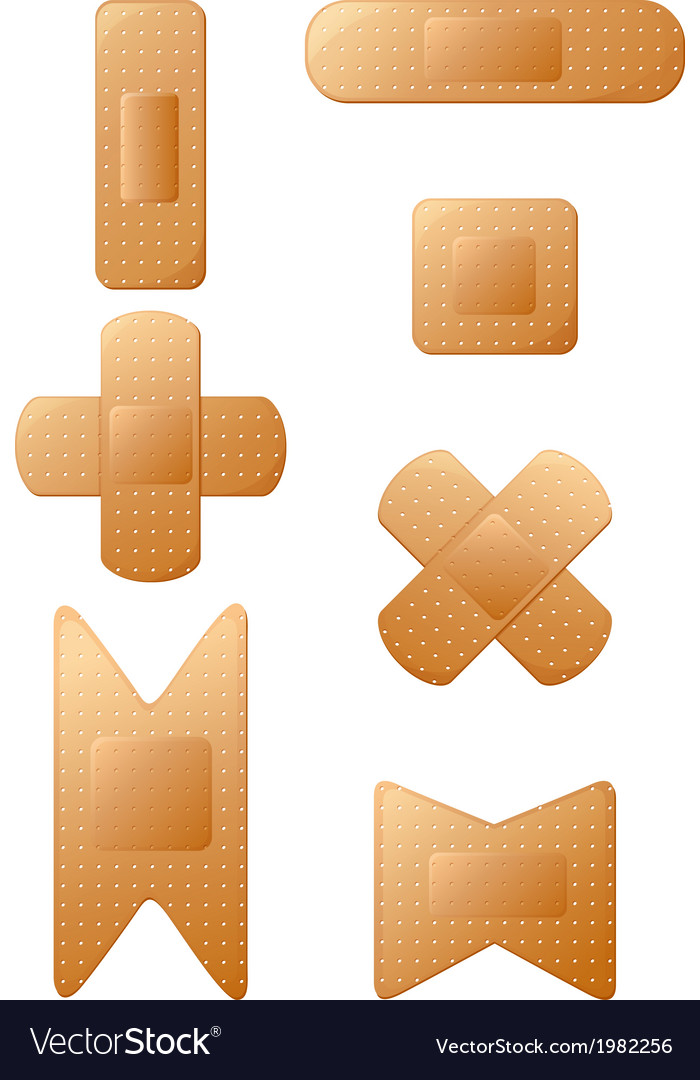 Set of band aids vector | Price: 1 Credit (USD $1)