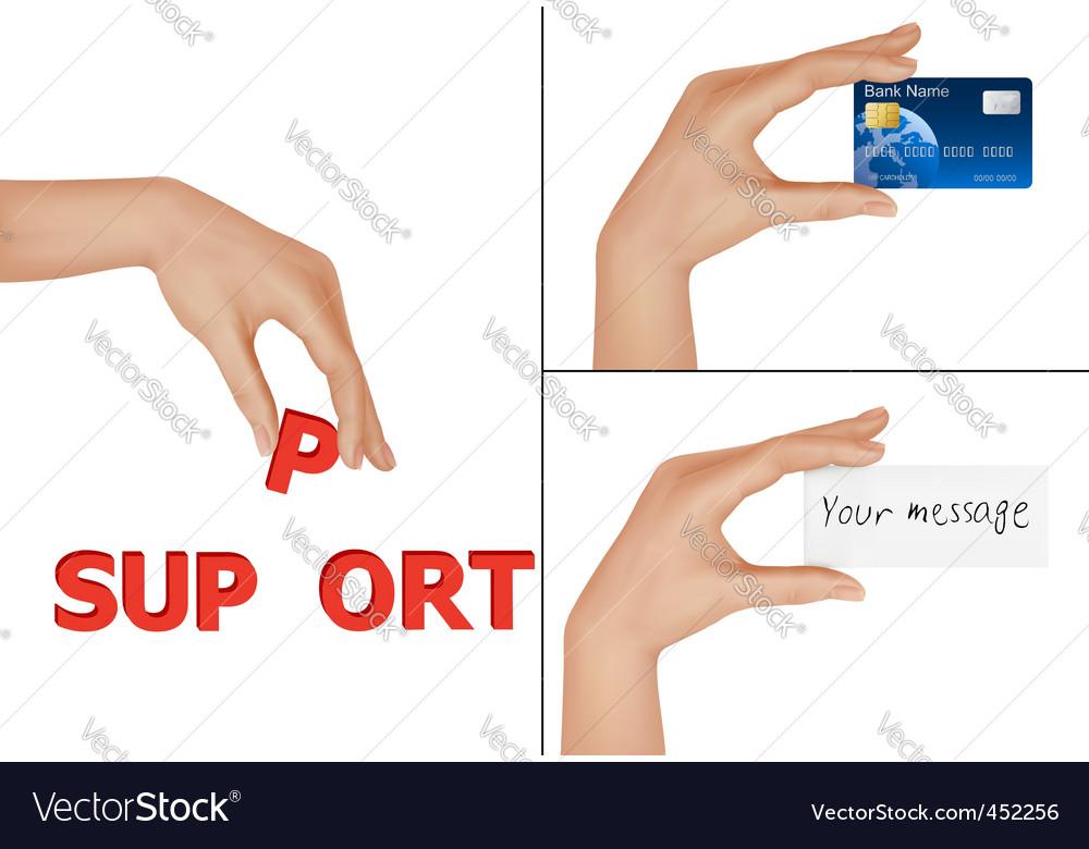 Set of hands vector | Price: 3 Credit (USD $3)