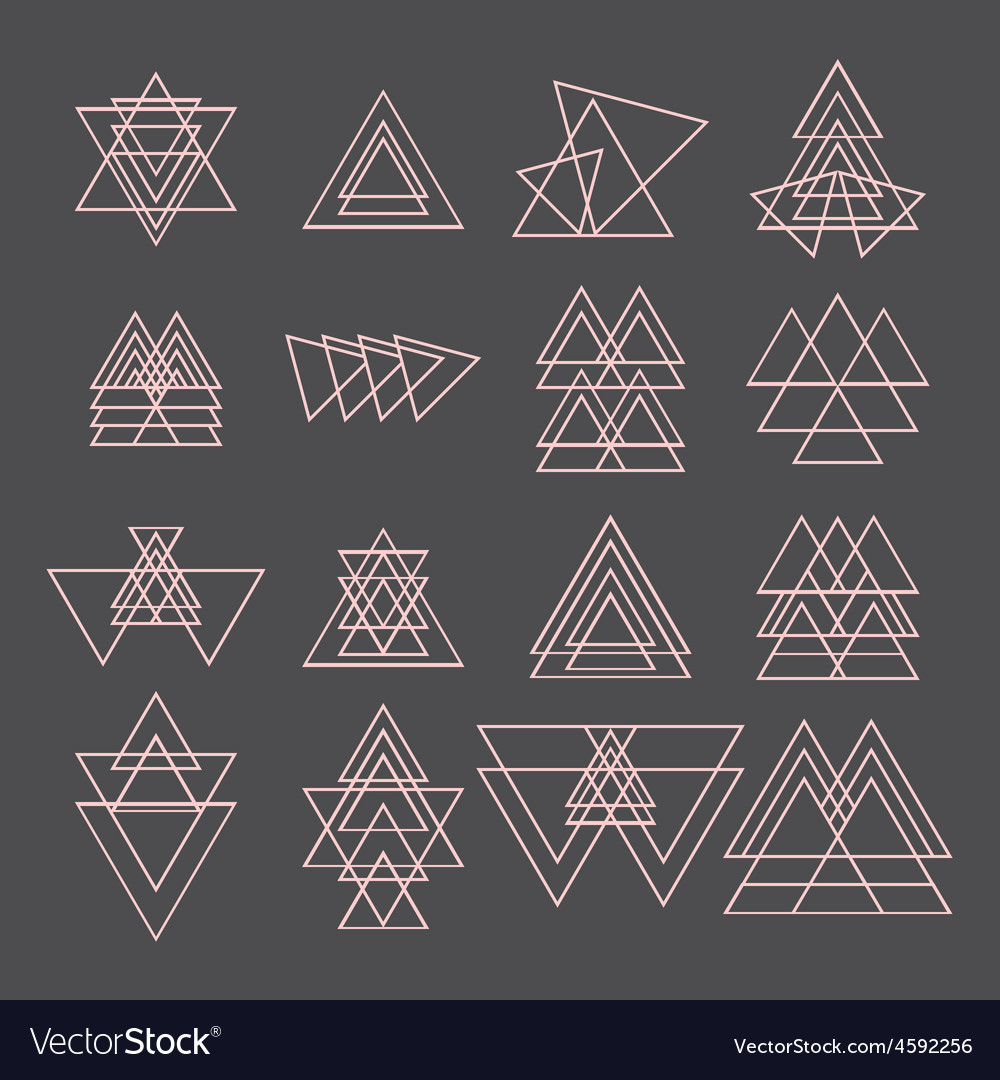Set of trendy geometric shapes geometric icons vector | Price: 1 Credit (USD $1)