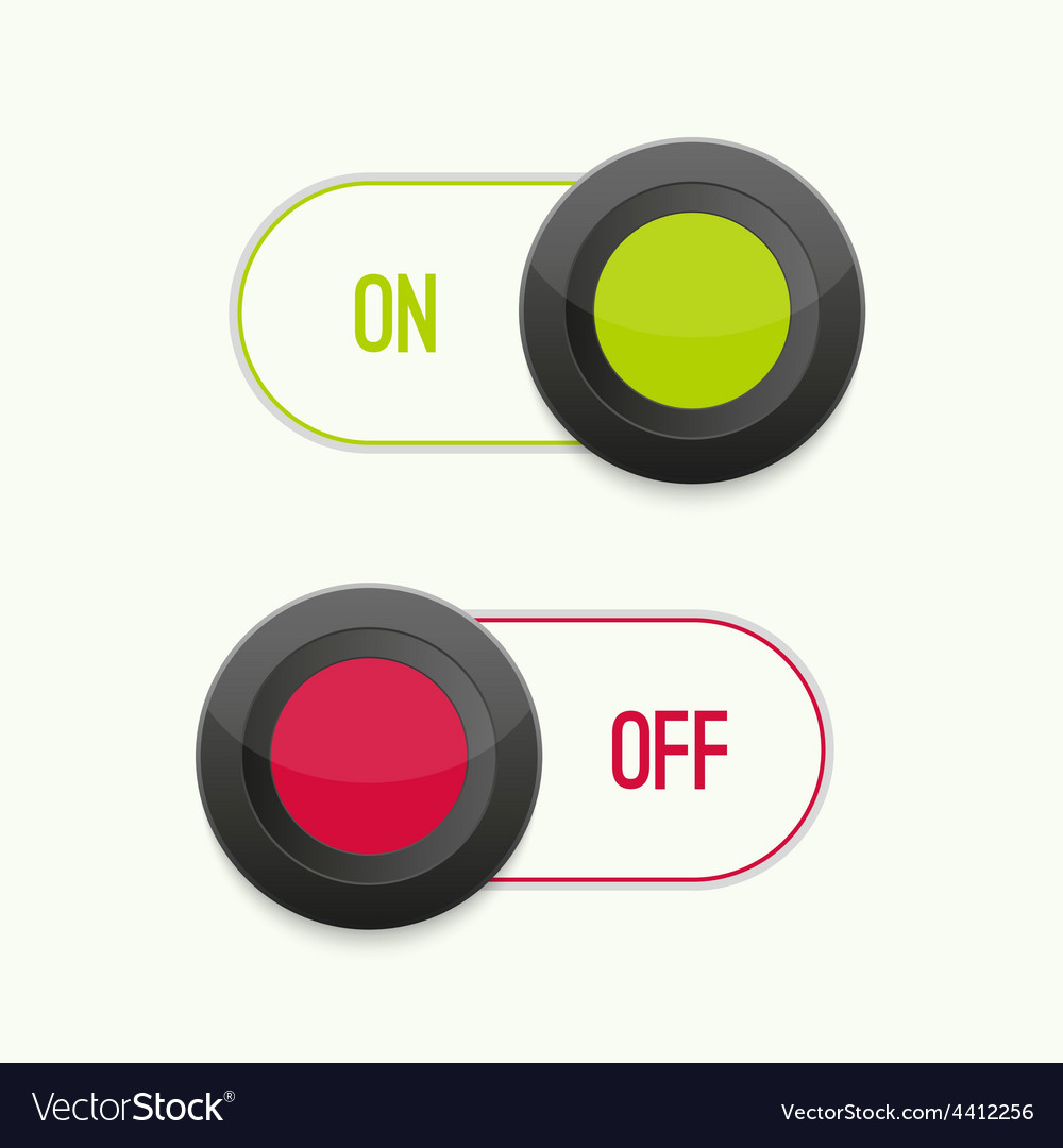 Toggle switch on and off vector | Price: 1 Credit (USD $1)