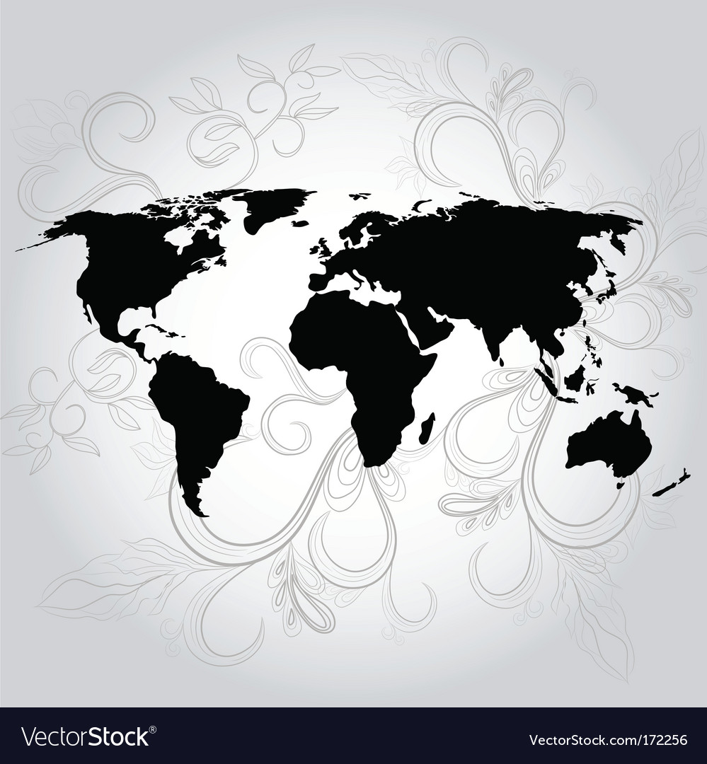 Vintage background with map vector | Price: 1 Credit (USD $1)