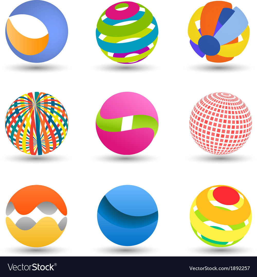 Abstract creative spheres vector | Price: 1 Credit (USD $1)