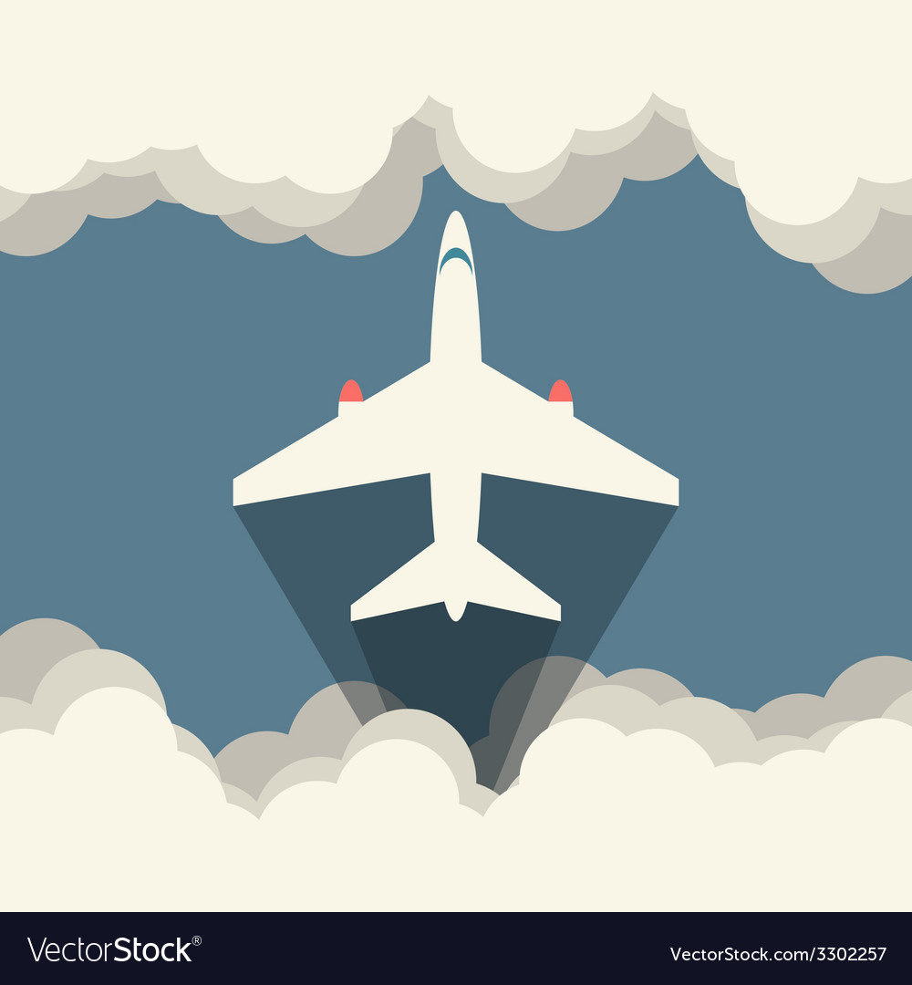 Aircraft  flat vector | Price: 1 Credit (USD $1)