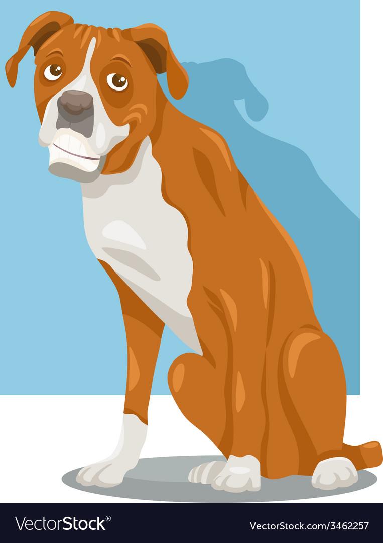 Boxer dog cartoon vector | Price: 1 Credit (USD $1)