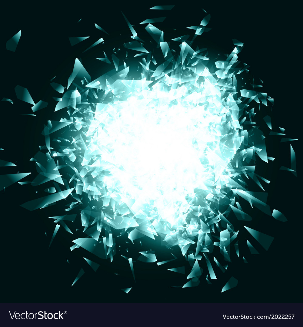 Broken glass or blue ice background vector | Price: 1 Credit (USD $1)