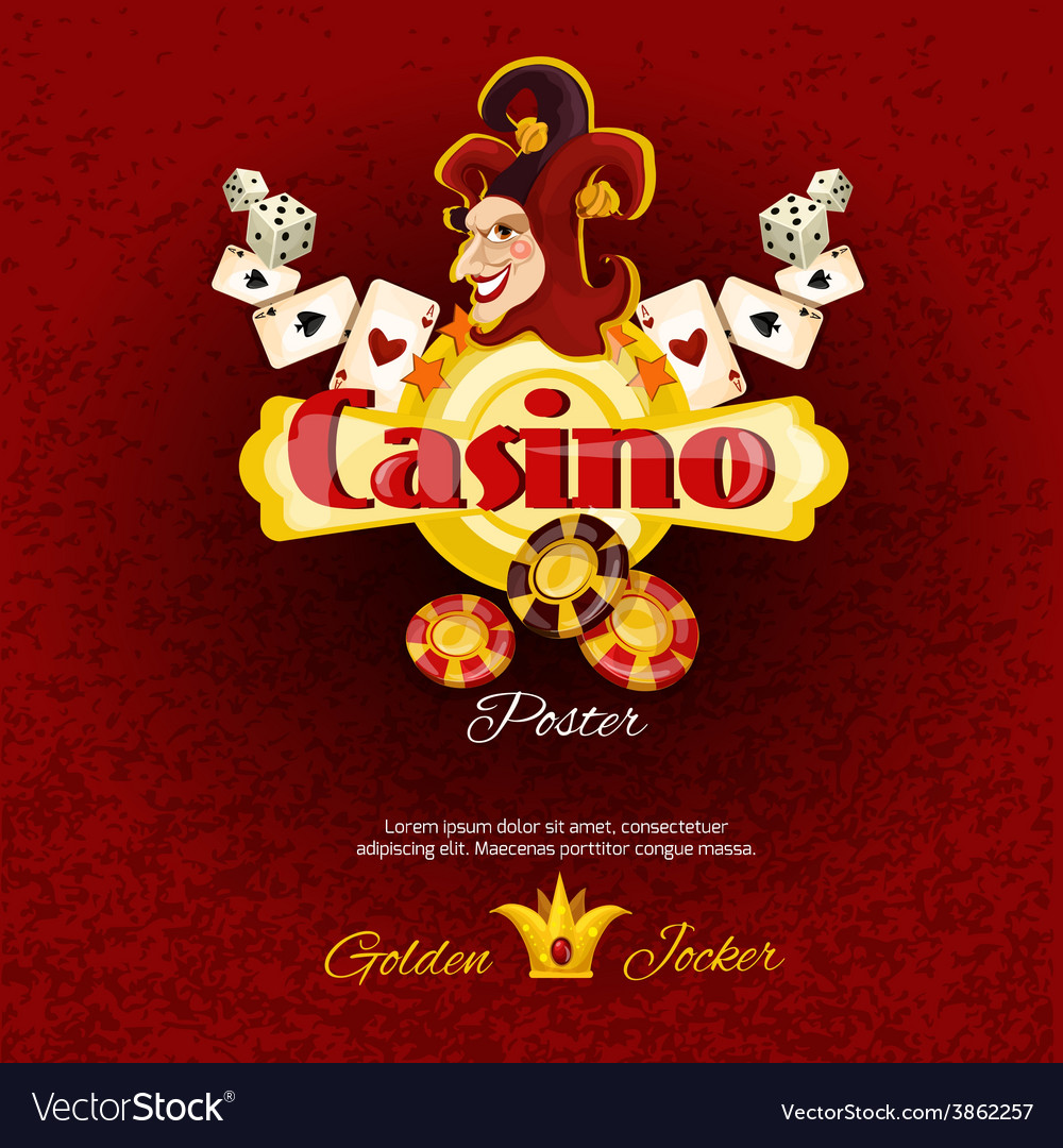 Casino poster illlustration vector | Price: 1 Credit (USD $1)