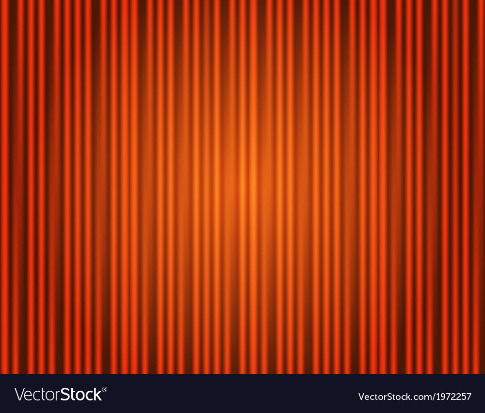 Curtain orange closed with light spots vector | Price: 1 Credit (USD $1)