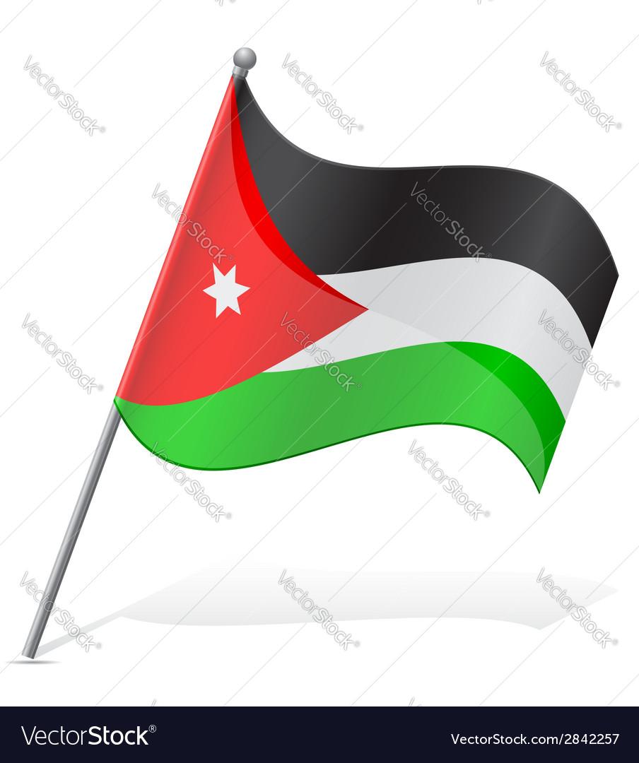 Flag of jordan vector | Price: 1 Credit (USD $1)