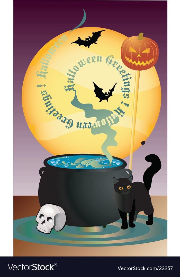 Halloween greetings vector | Price: 1 Credit (USD $1)