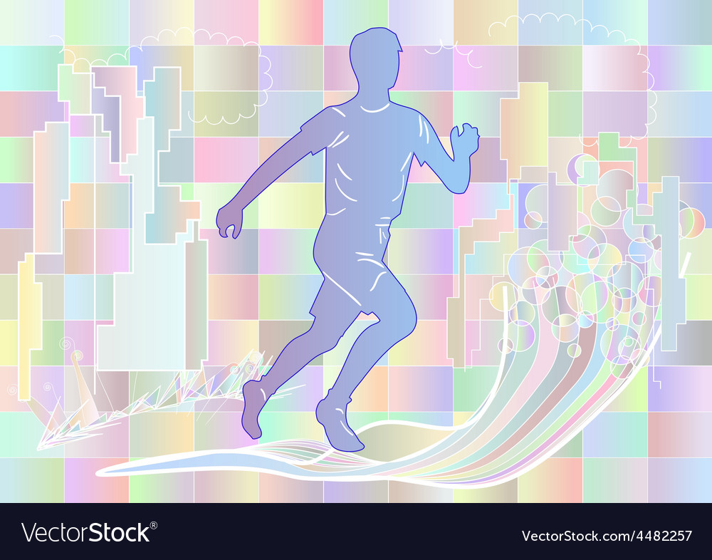 Jogging multicolor silhouette vector | Price: 1 Credit (USD $1)
