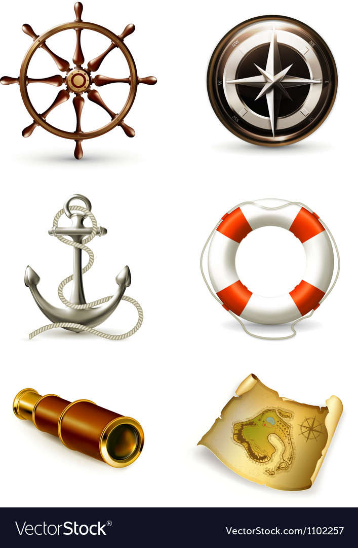 Marine set high quality icons vector | Price: 3 Credit (USD $3)