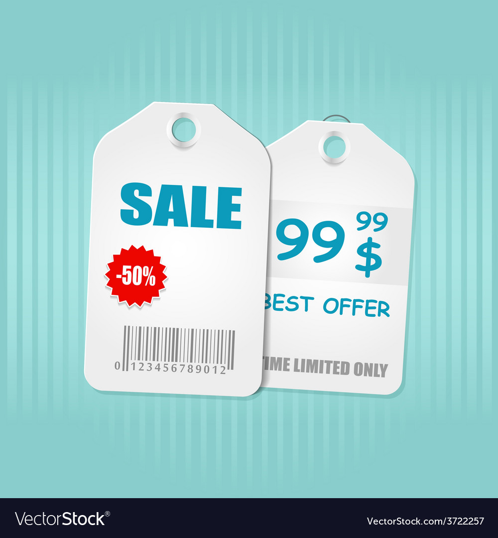 Sale now on and season sale tags vector | Price: 1 Credit (USD $1)
