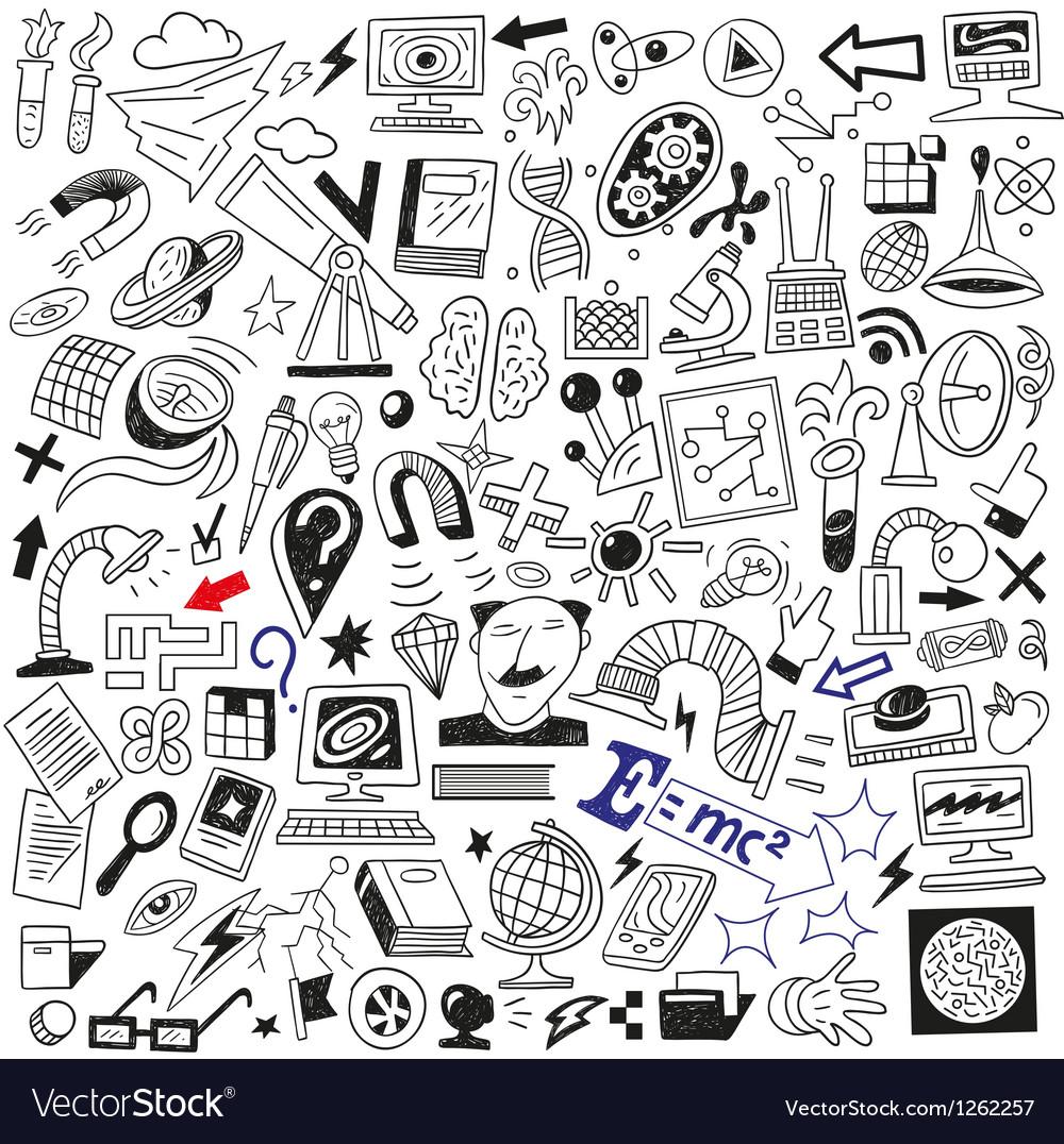 Science doodles vector | Price: 1 Credit (USD $1)