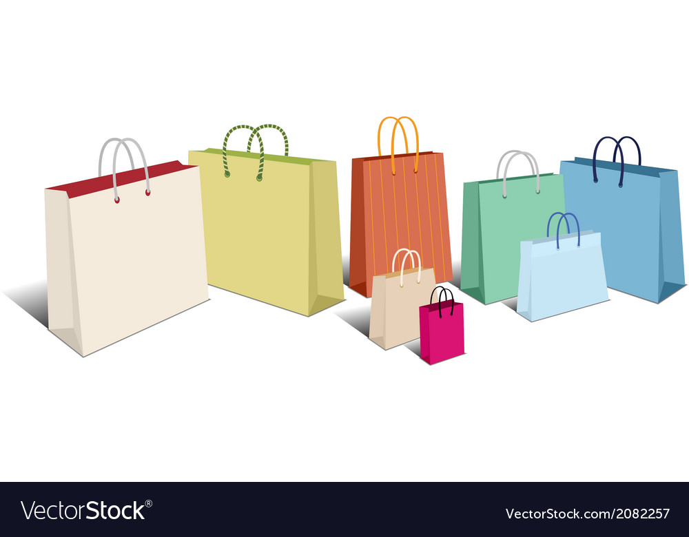 Shopping bags retro vector | Price: 1 Credit (USD $1)