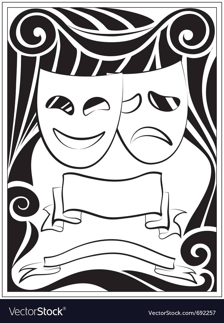 Theater masks vector | Price: 1 Credit (USD $1)