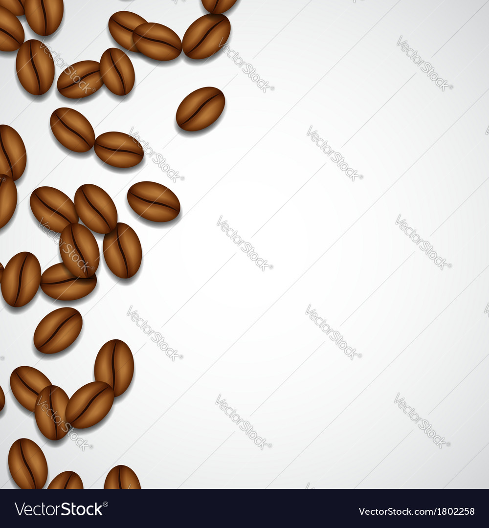 Background with coffee beans vector | Price: 1 Credit (USD $1)
