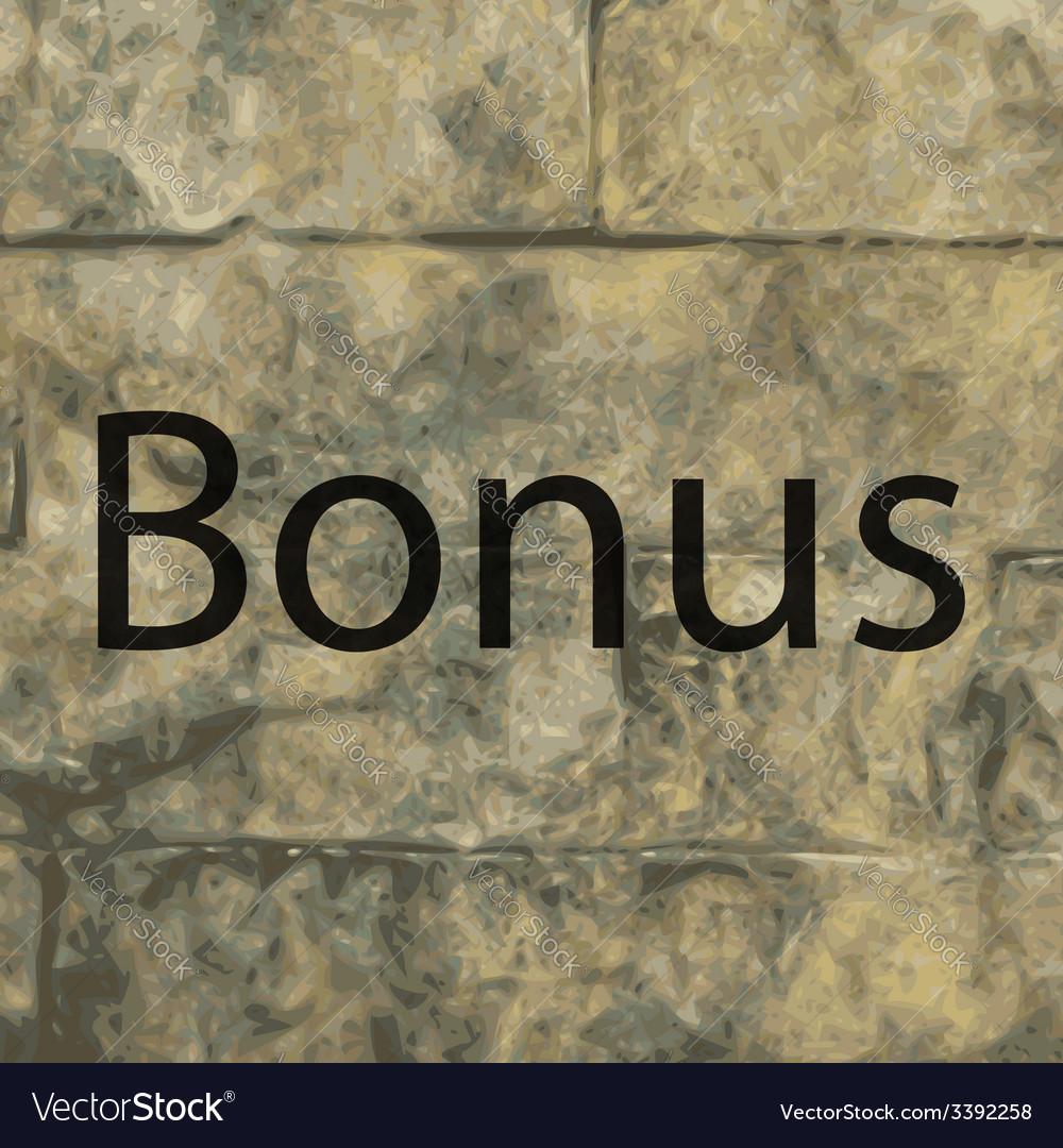 Bonus icon symbol flat modern web design with long vector | Price: 1 Credit (USD $1)