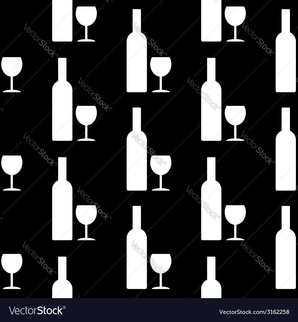 Bottle and glasse icon seamless pattern vector | Price: 1 Credit (USD $1)