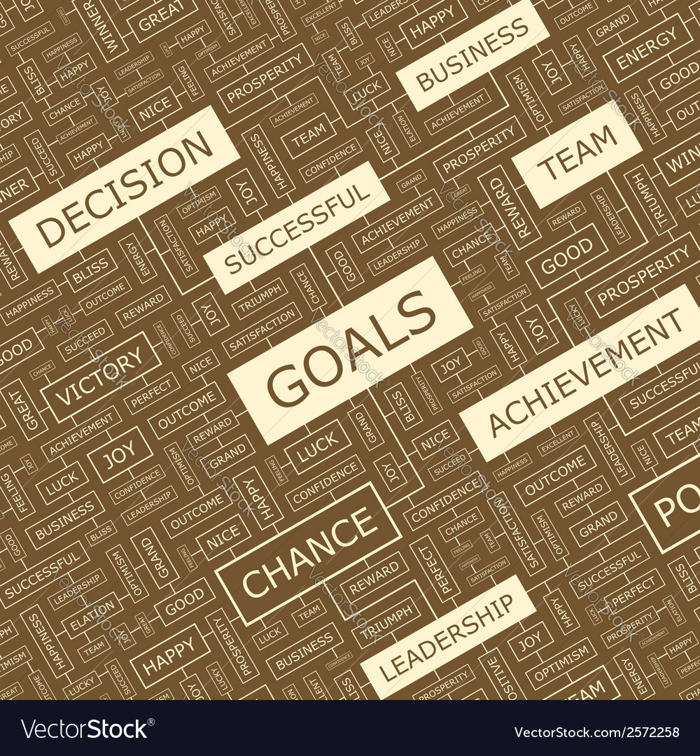 Goals vector | Price: 1 Credit (USD $1)