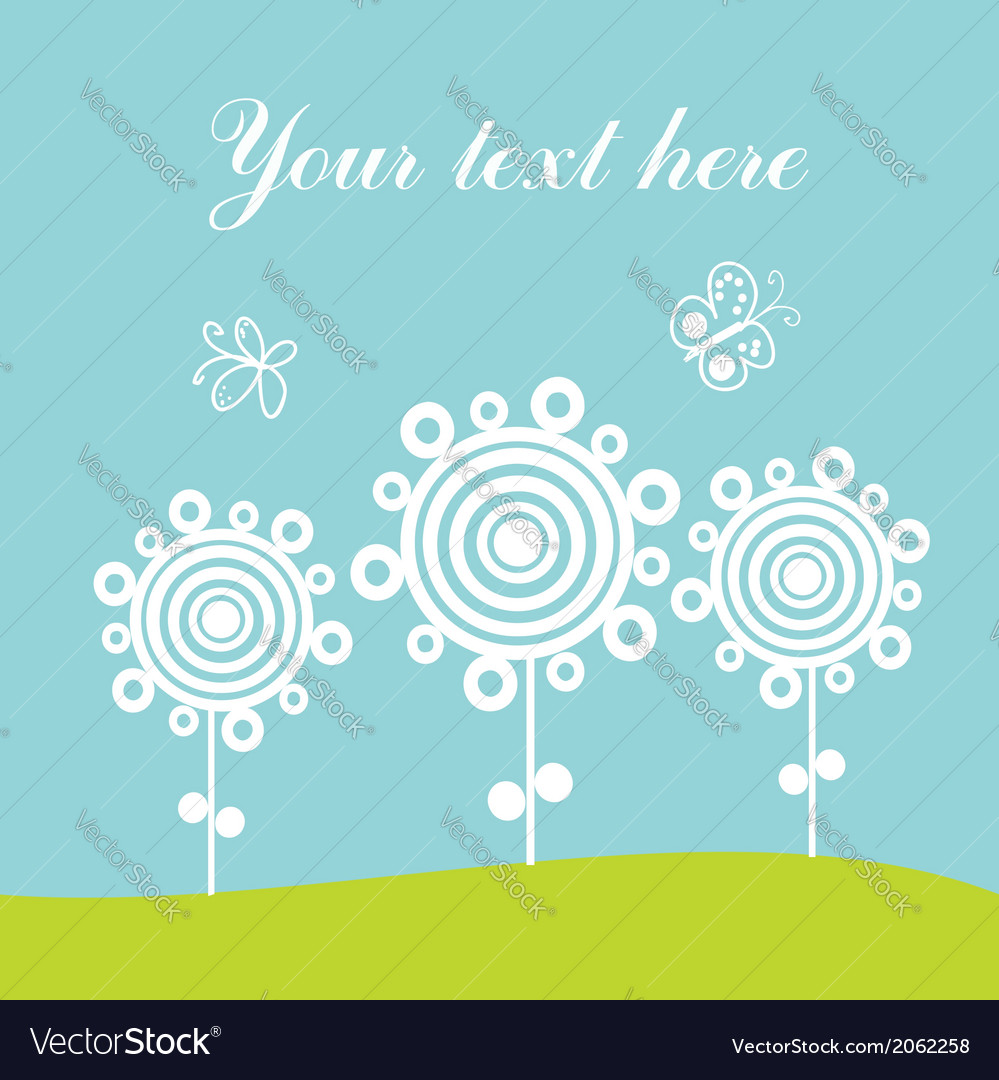 Greeting card spring theme vector | Price: 1 Credit (USD $1)
