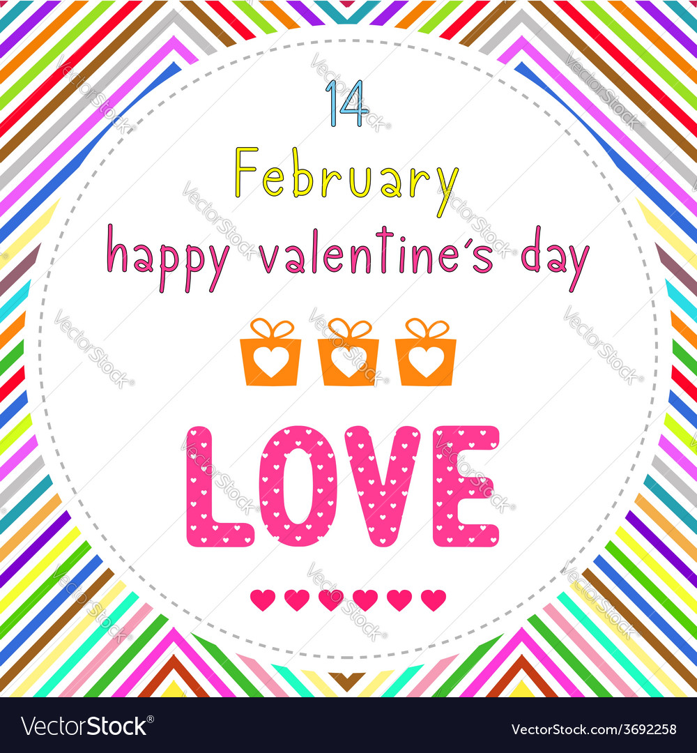 Happy valentine s day card15 vector | Price: 1 Credit (USD $1)