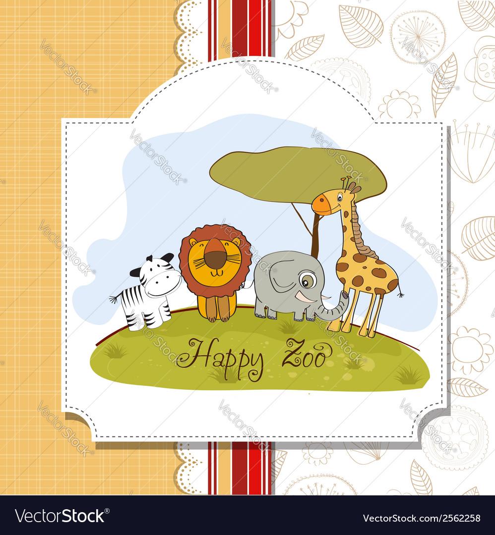 Happy zoo vector   Price: 1 Credit (USD $1)