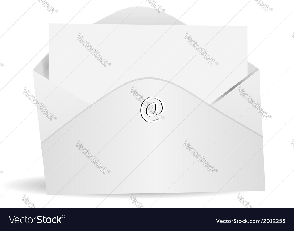 Letter and envelope vector | Price: 1 Credit (USD $1)