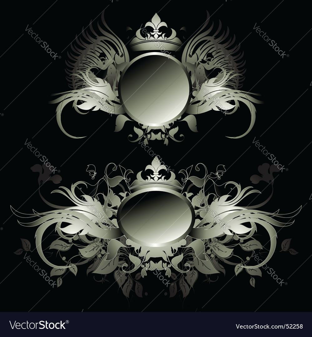 Ornamental shields vector | Price: 1 Credit (USD $1)