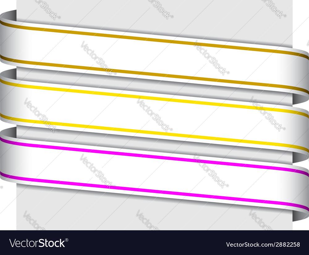 Ribbon signs vector | Price: 1 Credit (USD $1)