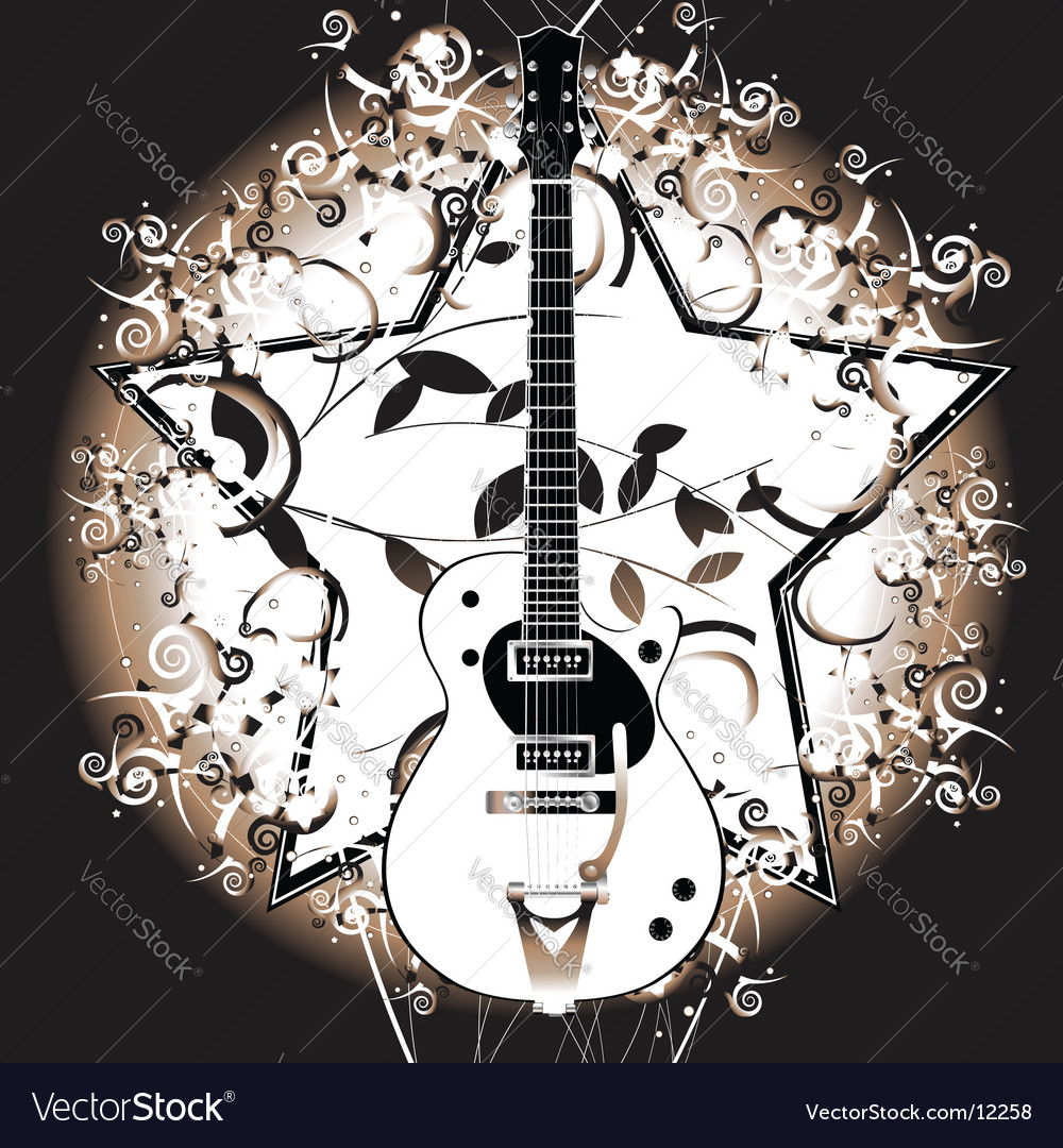 Rock star guitar vector | Price: 3 Credit (USD $3)